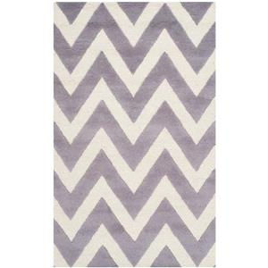 Safavieh Cambridge Chevron Rug - 2.5' x 4' - Wool - Silver