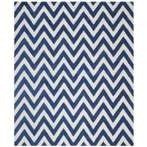 Safavieh Cambridge Chevron Rug - 11' x 15' - Wool - Blue