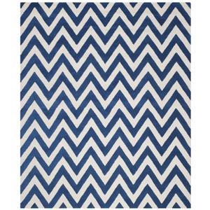 Safavieh Cambridge Chevron Rug - 11' x 15' - Wool - Blue