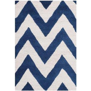 Safavieh Cambridge Chevron Rug - 2.5' x 4' - Wool - Blue
