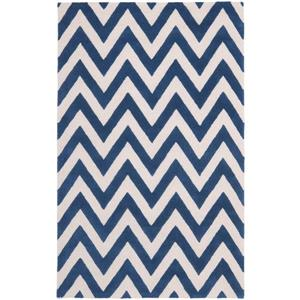 Safavieh Cambridge Chevron Rug - 4' x 6' - Wool - Blue