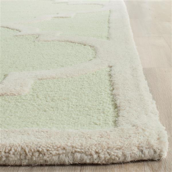 Safavieh Cambridge Trellis Rug - 3' x 5' - Wool - Light Green
