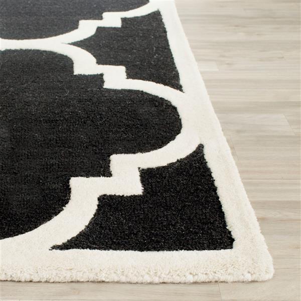 Safavieh Cambridge Trellis Rug - 2.5' x 6' - Wool - Black