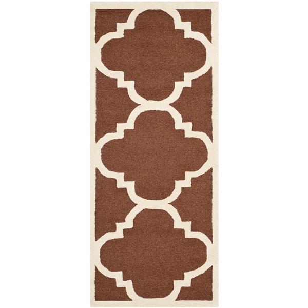 Safavieh Cambridge Trellis Rug - 2.5' x 6' - Wool - Brown