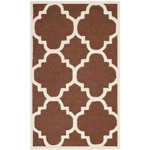 Safavieh Cambridge Trellis Rug - 3' x 5' - Wool - Brown