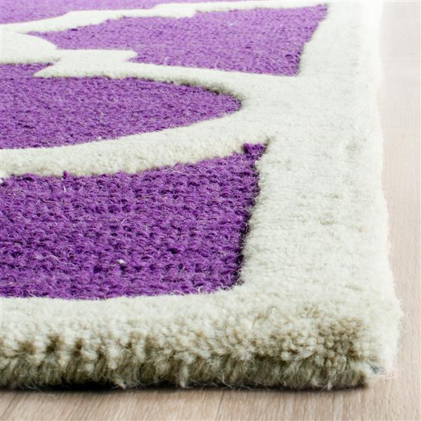 Safavieh Cambridge Trellis Rug - 4' x 6' - Wool - Purple