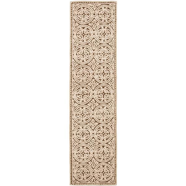 Safavieh Cambridge Geometric Rug - 2.5' x 8' - Wool - Brown