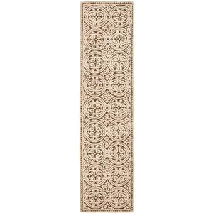 Safavieh Cambridge Geometric Rug - 2.5' x 8' - Wool - Brown