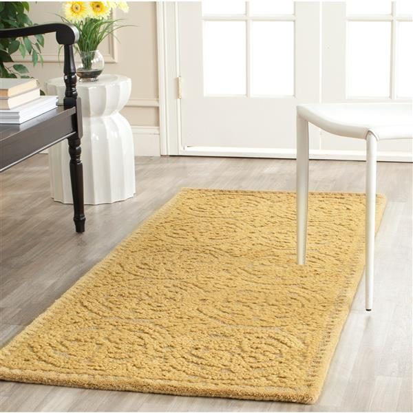 Safavieh Cambridge Geometric Rug - 2.5' x 8' - Wool - Gold