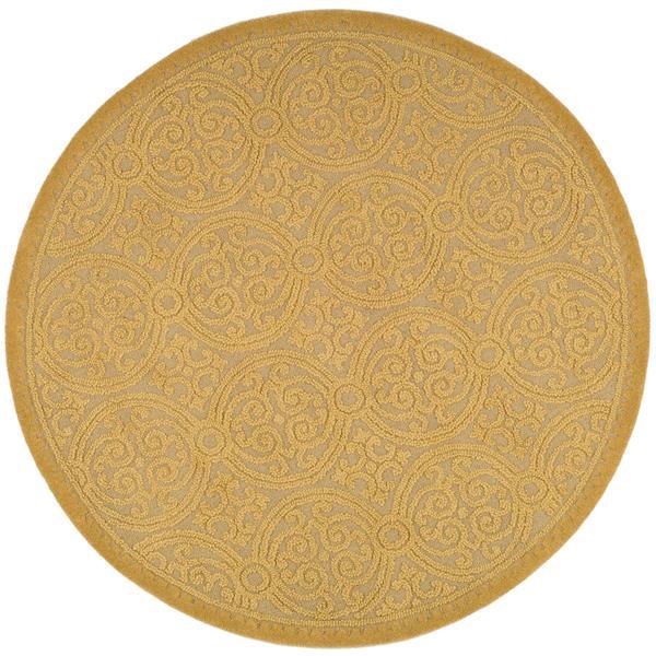 Safavieh Cambridge Geometric Rug - 4' x 4' - Wool - Gold