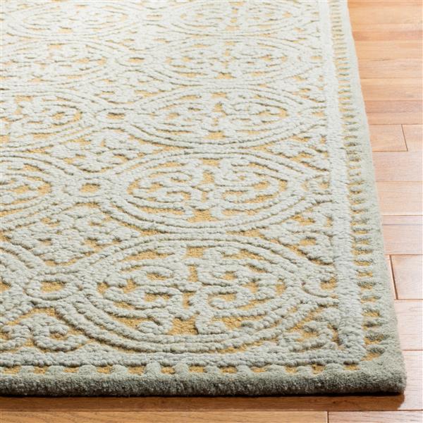Safavieh Cambridge Geometric Rug - 2.5' x 6' - Wool - Blue