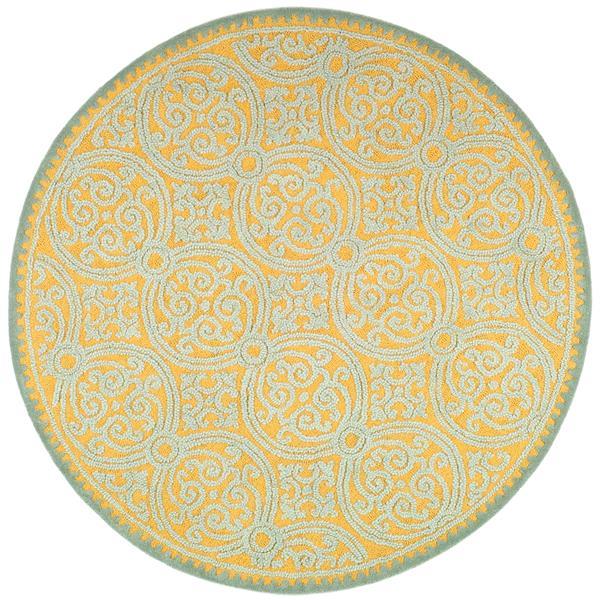 Safavieh Cambridge Geometric Rug - 4' x 4' - Wool - Blue