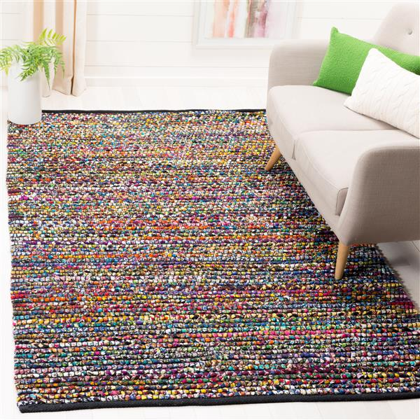 Cape Cod Stripe Rug - 4' x 4' - Jute - Multicolour