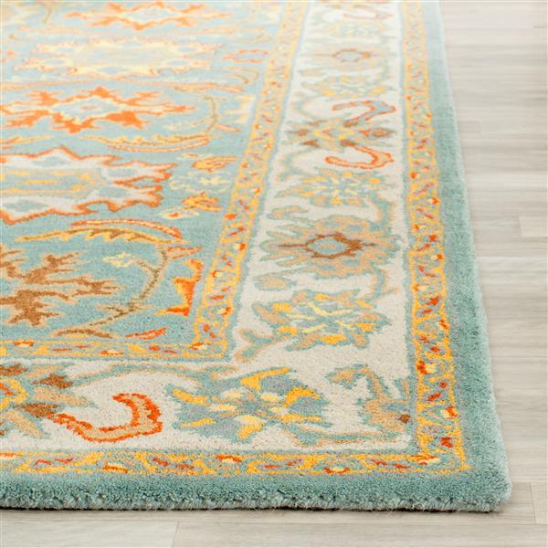 Safavieh Heritage Floral Rug - 9' x 12' - Wool - Light Blue