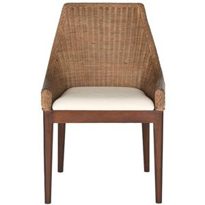 Safavieh Franco Rattan Sloping Chair - Brown