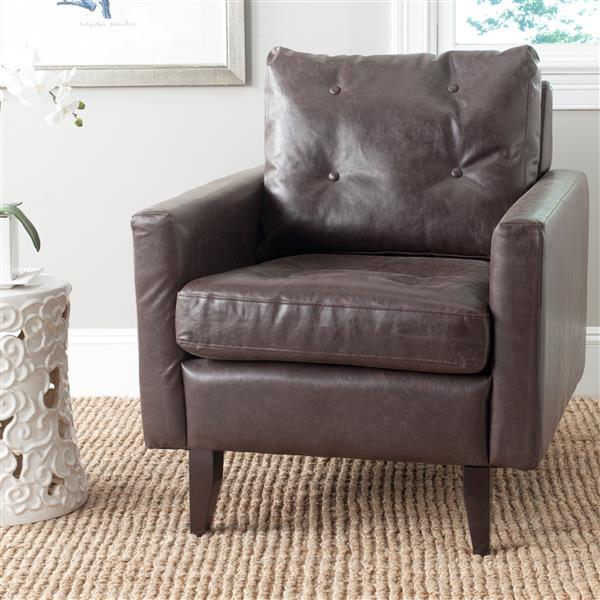 Safavieh Mid Century Modern Caleb Club Chair - Brown