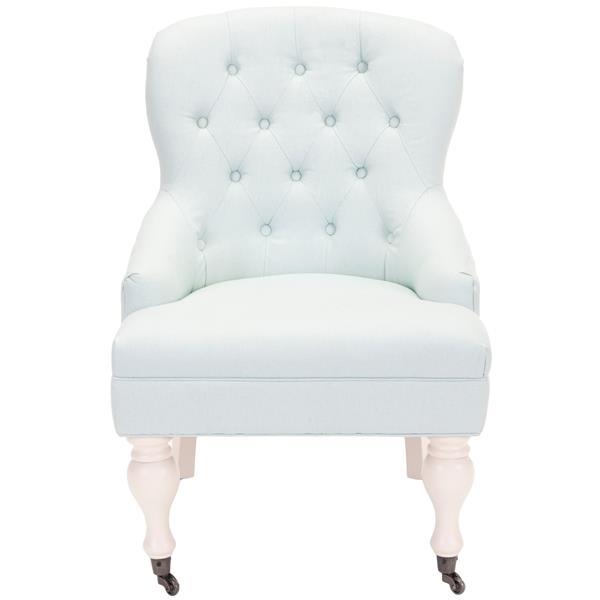 Safavieh Falcon Tufted Arm Chair - Blue