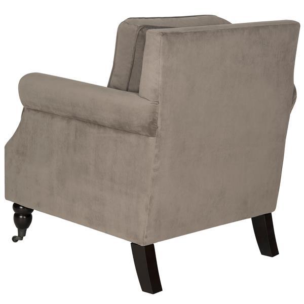Safavieh Rachel Arm Chair with Nail Head - Silver/Brown