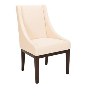 Safavieh Fabric Sloping Armchair - Cream