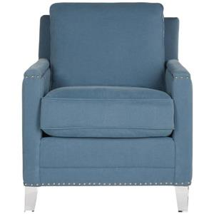 Hollywood Glam Acrylic Tufted Club Chair - Blue