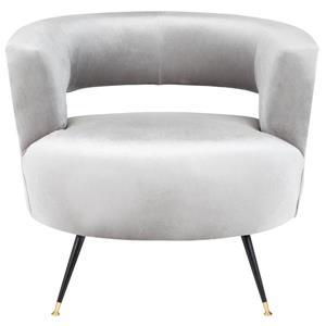 Safavieh Manet Velvet Retro Accent Chair - Grey
