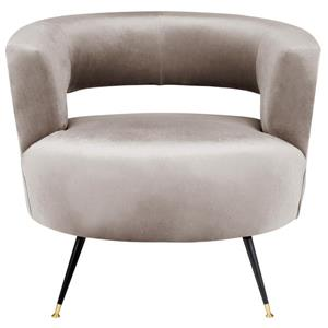 Safavieh Manet Velvet Retro Accent Chair - Grey