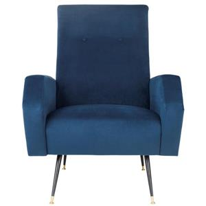 Safavieh Aida Velvet Retro Accent Chair - Blue