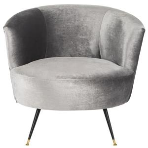 Safavieh Arlette Velvet Retro Accent Chair - Grey