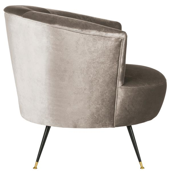 Safavieh Arlette Velvet Retro Accent Chair - Grey