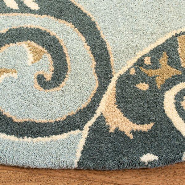 Safavieh Wyndham Round Rug -  7' x 7' - Blue