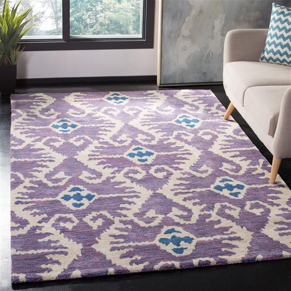 Safavieh Wyndham Square Rug - 7' x 7' - Beige/Lavander