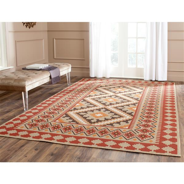"Safavieh Veranda Rug - 2' 6"" x 5' - Red/Natural"