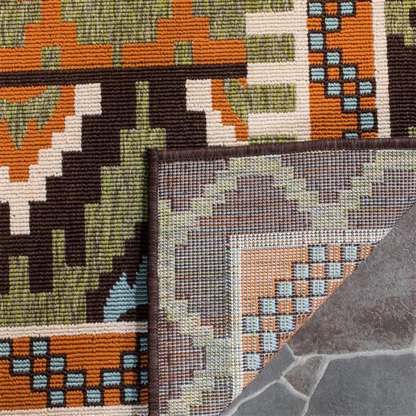 "Safavieh Veranda Rug - 4' x 5' 6"" - Green/Terracotta"