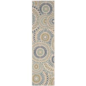 "Safavieh Veranda Rug - 2' 3"" x 8' - Cream/Green"