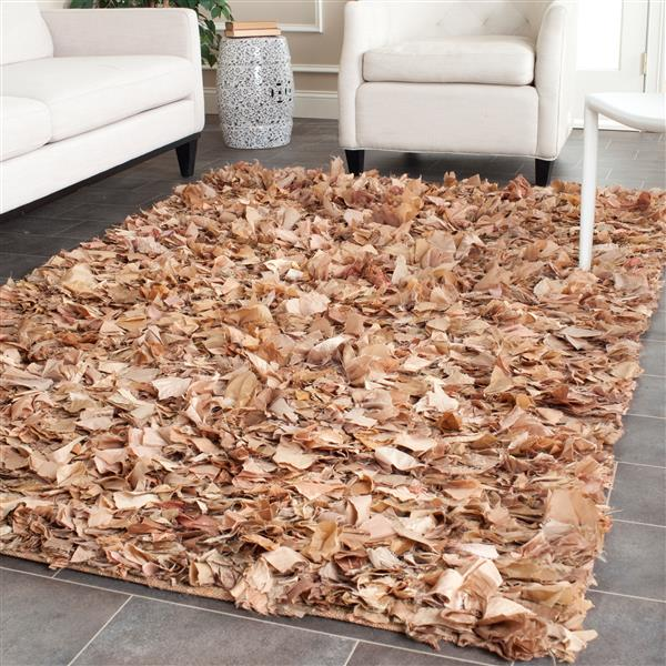 Safavieh Rio Abstract Rug - 8' x 8' - Polyester - Brown