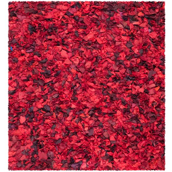 Safavieh Rio Abstract Rug - 8' x 8' - Polyester - Red