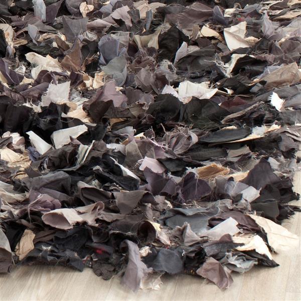 Safavieh Rio Abstract Rug - 8' x 8' - Polyester - Gray