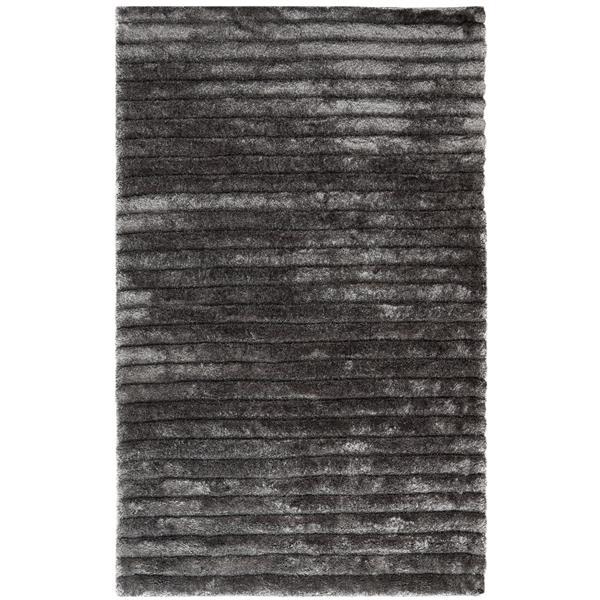 Safavieh 3D Abstract Rug - 8' x 10' - Polypropylene - Silver