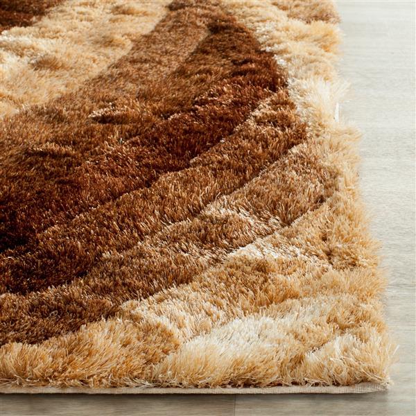 Safavieh 3D Abstract Rug - 8' x 10' - Polypropylene - Brown