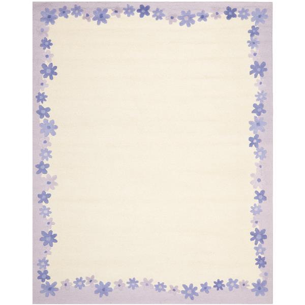 Safavieh Kids Floral Rug - 8' x 10' - Wool - Lavender