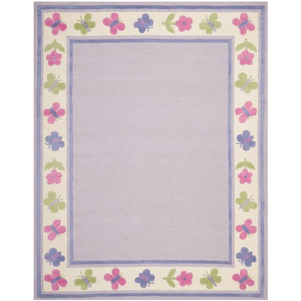 Safavieh Kids Border Rug - 8' x 10' - Wool - Lavender