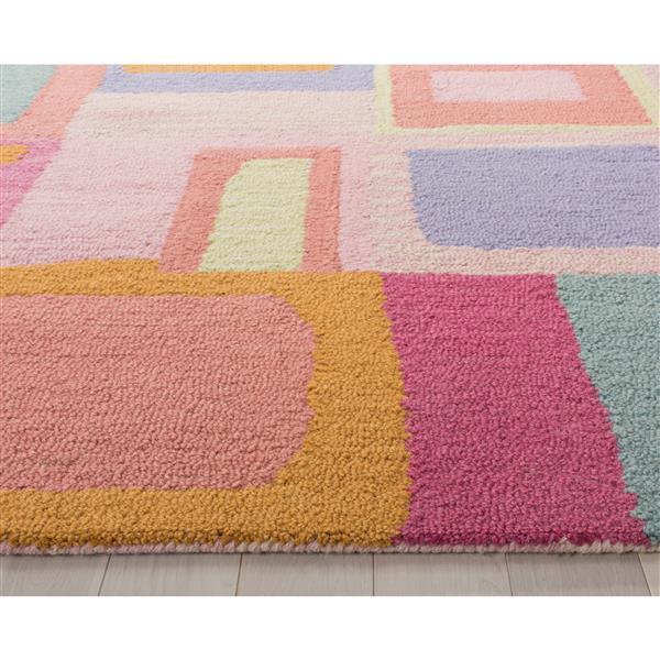 Safavieh Kids Geometric Rug - 8' x 10' - Wool - Pink
