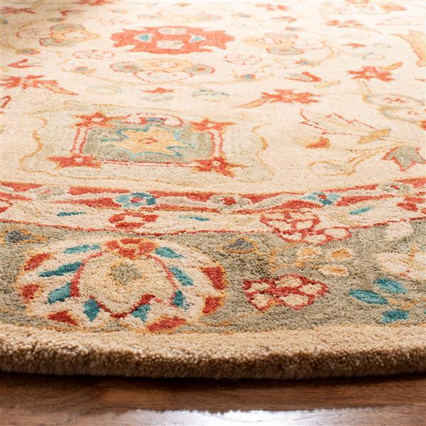 Safavieh Anatolia Floral Rug - 4' x 4' - Wool - Beige