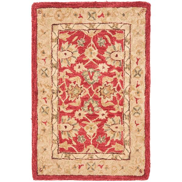 Safavieh Anatolia Floral Rug - 2' x 3' - Wool - Red