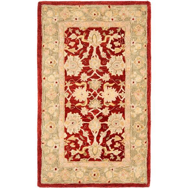 Safavieh Anatolia Floral Rug - 3' x 5' - Wool - Red