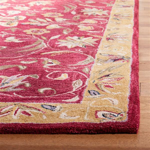 Safavieh Anatolia Floral Rug - 2' x 3' - Wool - Burgundy
