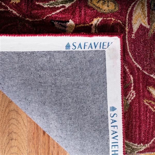 Safavieh Anatolia Floral Rug - 4' x 4' - Wool - Burgundy
