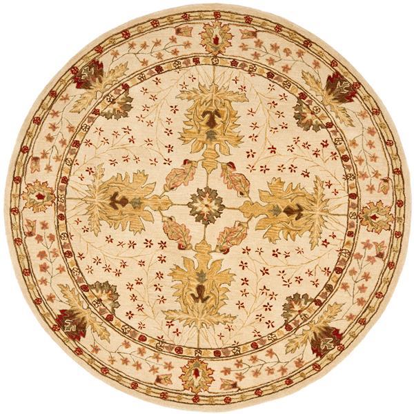 Safavieh Anatolia Floral Rug - 4' x 4' - Wool - Ivory