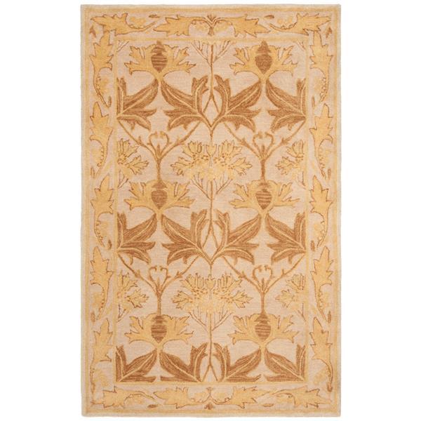 Safavieh Anatolia Floral Rug - 2' x 3' - Wool - Gold
