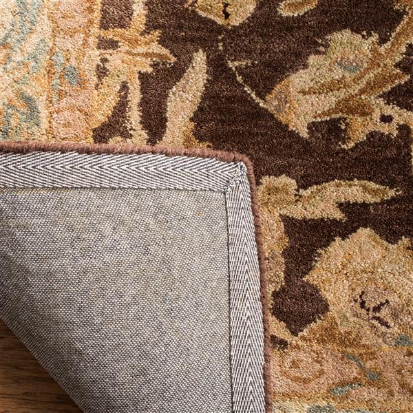 Safavieh Anatolia Floral Rug - 4' x 4' - Wool - Brown